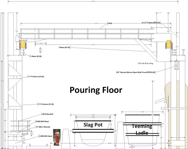 Open Hearth Structural Drawings v24 - Pouring Floor