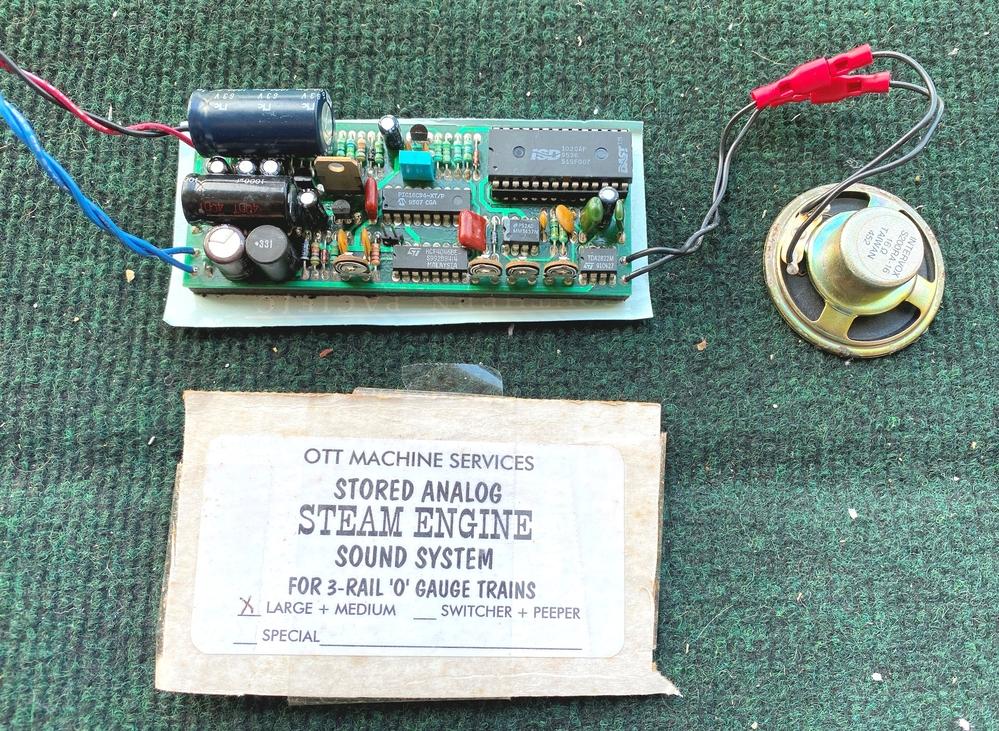 Ott Machine Services Stored Analog Steam Engine Sound System