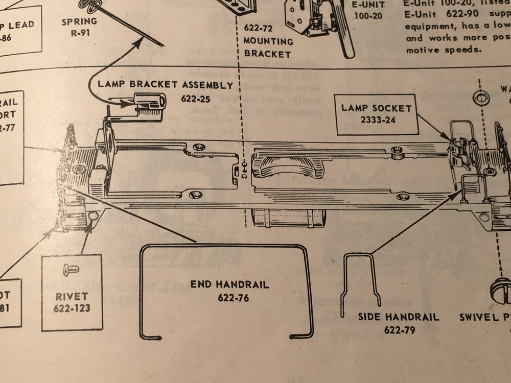 Lionel 622-25 Lamp Bracket Assembly