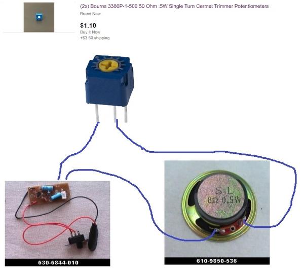 speaker trimpot