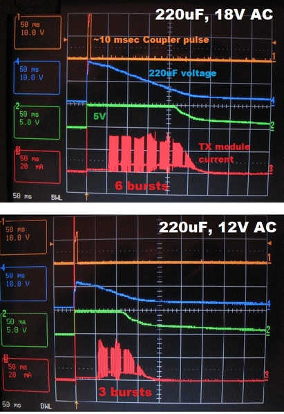 PS2 coupler transmission with only 220uF