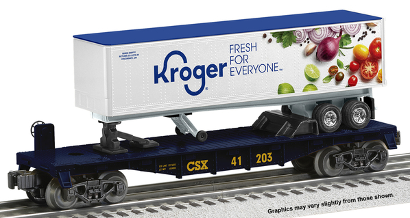 2001350 LOTS Kroger Trailer on a CSX Flatcar
