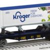 2001350 LOTS Kroger Trailer on a CSX Flatcar: Kroger TOFC