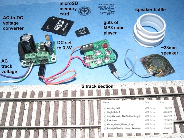 diy rolling stock mp3 player possibly fits S gauge boxcar