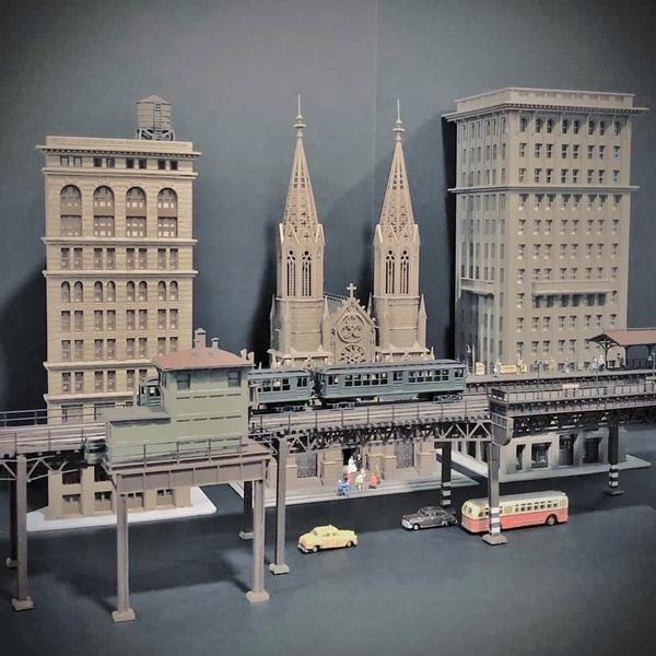 Manhattan EL N Scale project Midtown is growing.