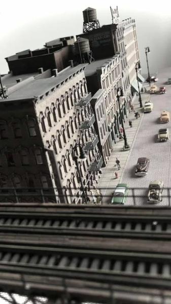 Tibor Balint N Scale NYC EL & City Street