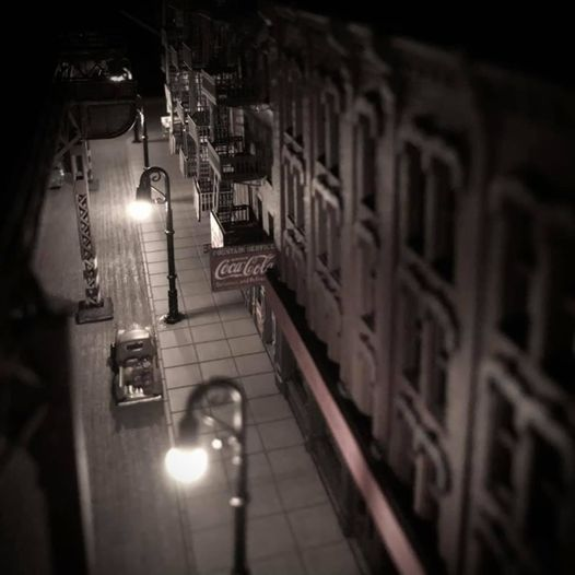 Tabor Balint night Scene by N Scale NY EL