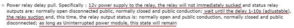 delay on 12v relay