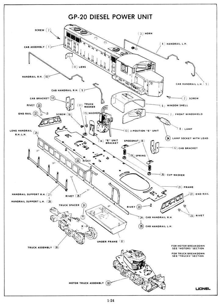 lionel diagrams and parts list