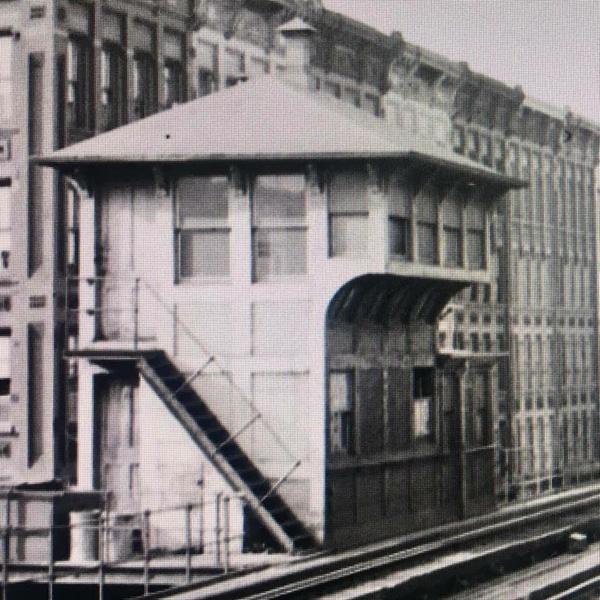 Trackside view- 9AV EL W.135St Tower-1930's