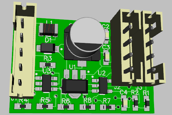 TMCC Motor Driver Buffer PCB-Front