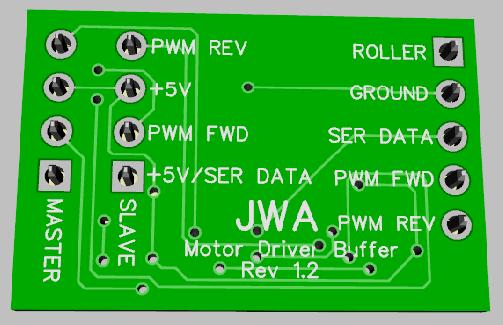 TMCC Motor Driver Buffer PCB-Rear