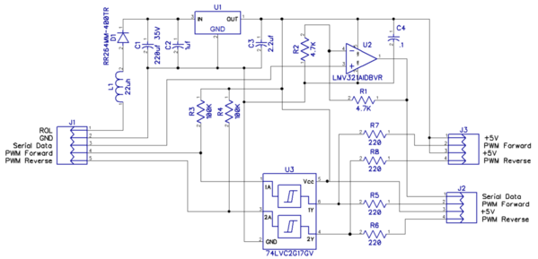 TMCC Motor Driver Buffer Schematic