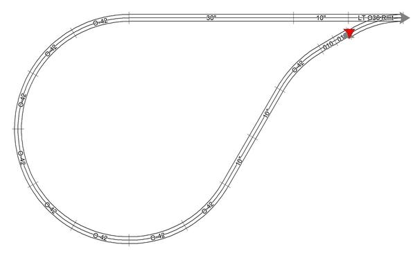 FT O36 with Menards O42 Curves & Straight