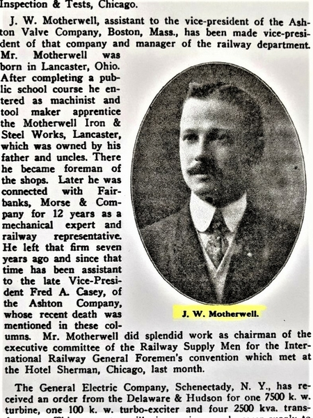 J. W. Motherwell [2) Railway journal 1911