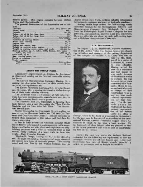 J.W. Motherwell 3 Railway Journal 1911