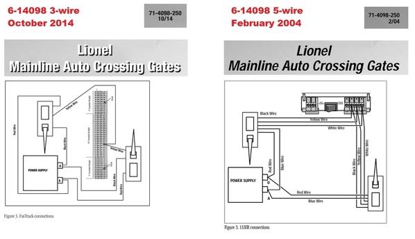 lionel 6-14098 3-wire 5-wire versions