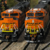 BNSF diesels