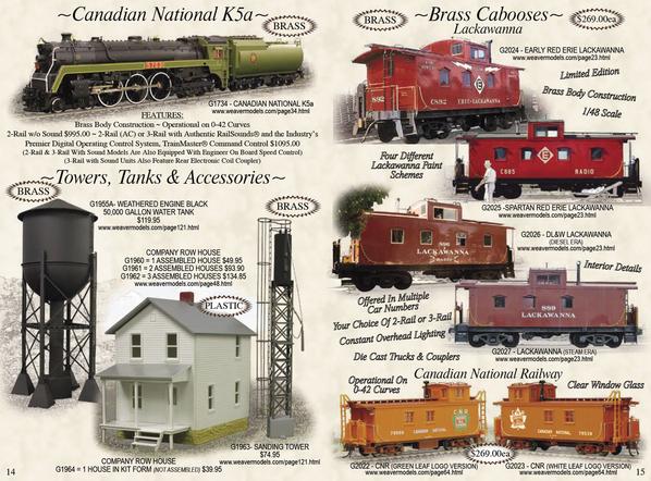 Weaver G1734 CN K5a Brass w TMCC, RS, EOB [2010 Spring, 1095 list) Catalog
