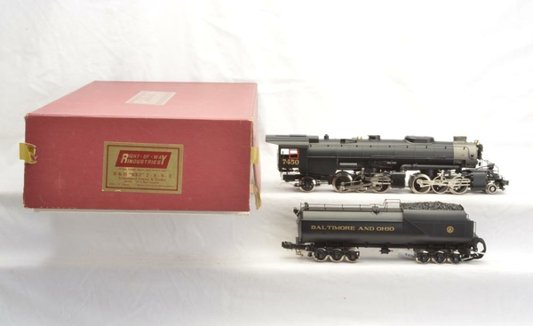 Right-Of-Way B&O # 7450 KK2 2-6-6-2 Articlulated Brass Engine & Vandy Tender - Sample PhotoT