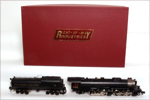 Right of Way Industries BALTIMORE & OHIO KK2 Brass 2-6-6-2 Articulated Engine & Tender - SAMPLE PHOTO1