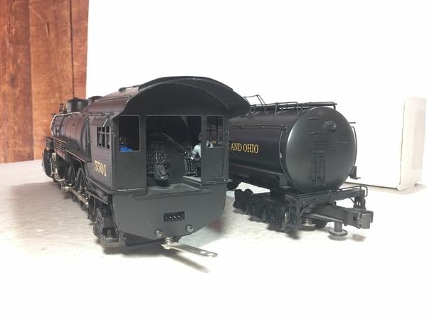 Weaver 1701-L B&O # 5501 CUSTOM Brass 4-8-2 w Vandy Tender [2000 Custom, 745 list) Actual Photo5