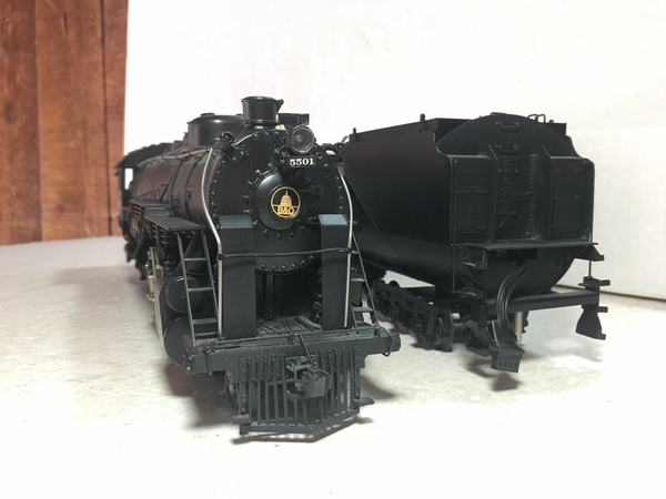 Weaver 1701-L B&O # 5501 CUSTOM Brass 4-8-2 w Vandy Tender [2000 Custom, 745 list) Actual Photo4