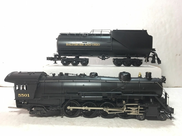 Weaver 1701-L B&O # 5501 CUSTOM Brass 4-8-2 w Vandy Tender [2000 Custom, 745 list) Actual Photo3