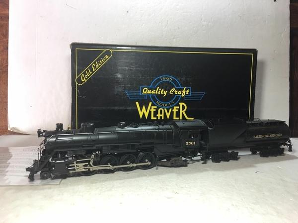 Weaver 1701-L B&O # 5501 CUSTOM Brass 4-8-2 w Vandy Tender [2000 Custom, 745 list) Actual Photo1
