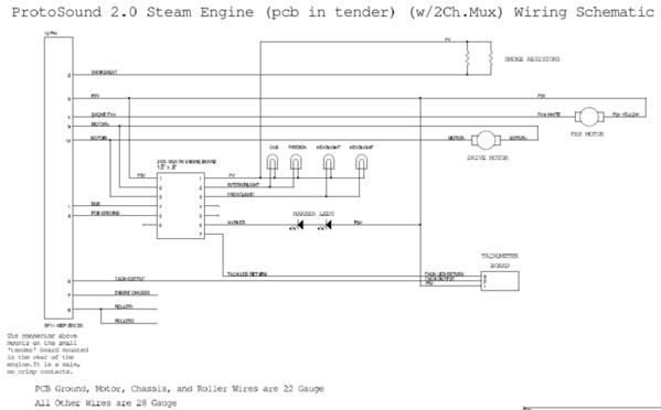 PS2 Steam Locomotive [2-chan mux) Schematic
