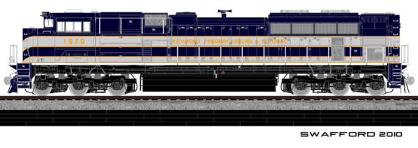 RF&P SD70ACe Cab 1870x