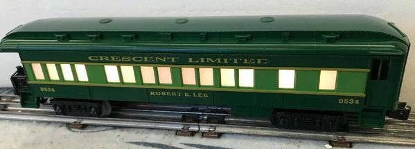 6-9534 CRESCENT LIMITED #9534 ILLUMINATED BAGGAGE CAR ROBERT E LEE