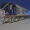 Amtrak Parking on siding at night