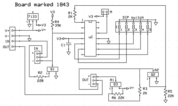 delay off 1843 module guess at schematic