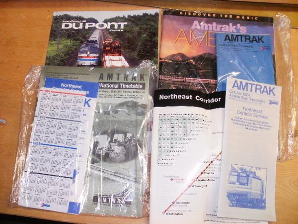 Amtrak Timetables & Brochures '81,'83,'84,'91'94,'95