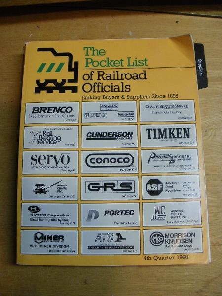 The Pocket List of Railroad Officials 4th Qtr 1990