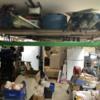 743E9151-C28E-4BDE-83E1-E52F35FC259B: Hanging layout in a disaster garage