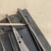 Marx Switch Gap Fix: Stuff half a track pin thru to fill the gap