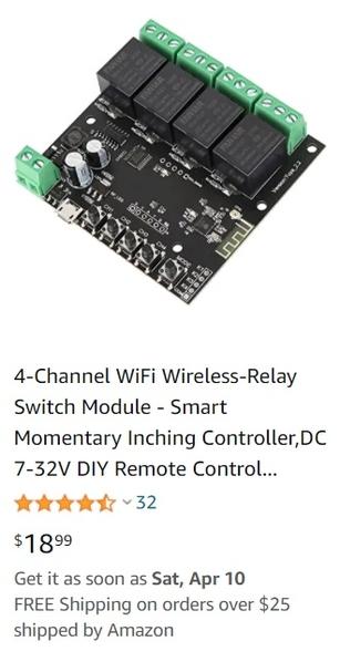 4ch wifi relay