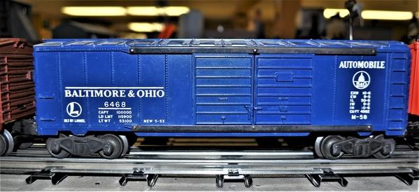 Lionel 6468 B&O dbl door auto box [2)