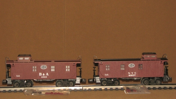 Lionel B&A and NYC Cabooses
