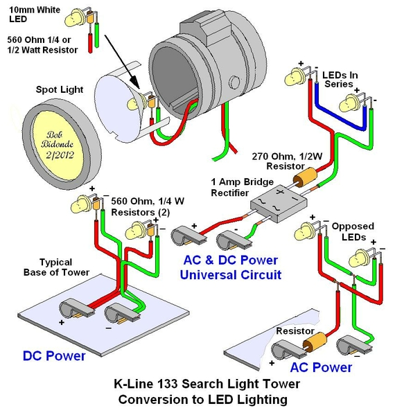 K-Line 133 Searchlight Tower LED Conversion