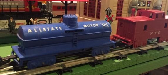 Marx 400 train Allstate tanker