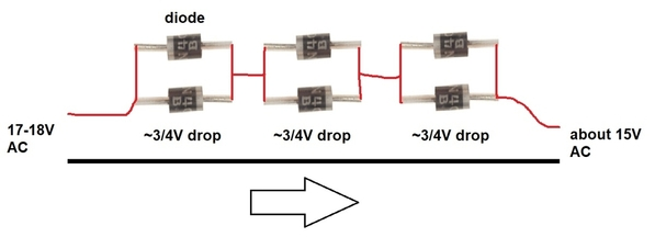 ac drop using diodes