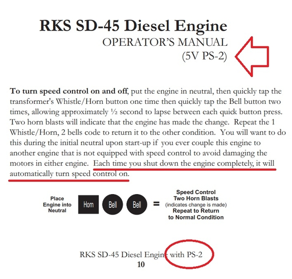 ps2 5V engine with speed control default ON