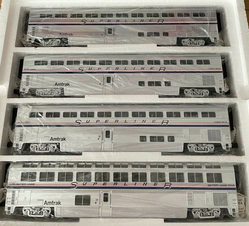 MTH 20-6537 Amtrak Superline 4 car set 21 05 14