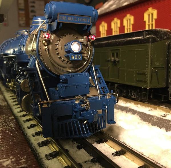 Blue Comet at Station