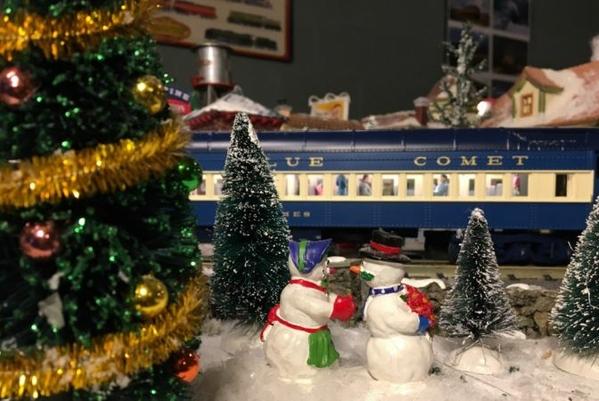 Blue comet Christmas