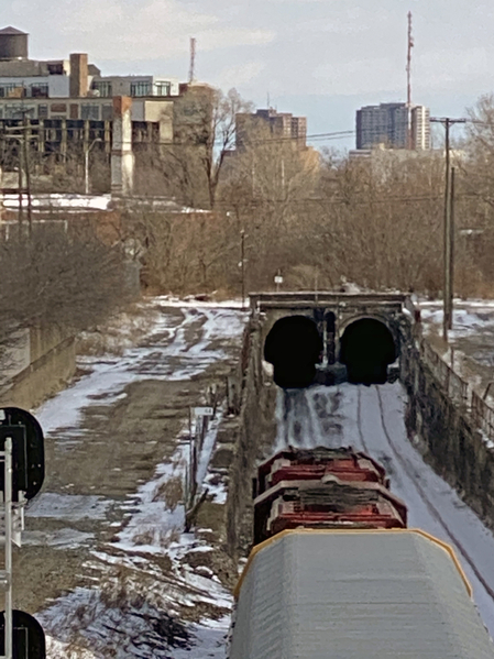 5 Two locos enter tunnel