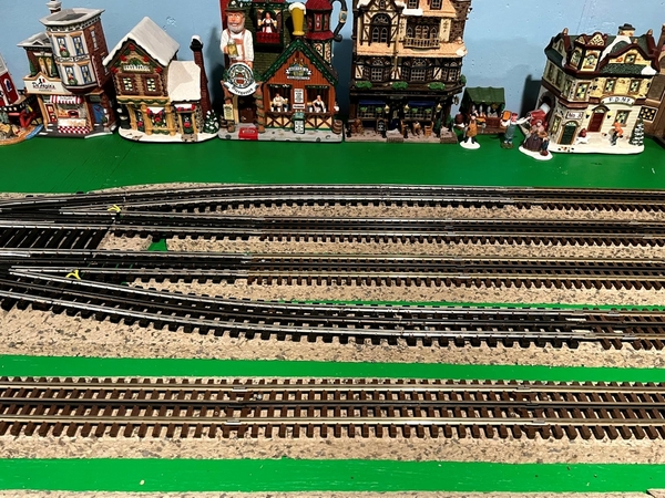 Completed track at 4 way switch 7-7-21